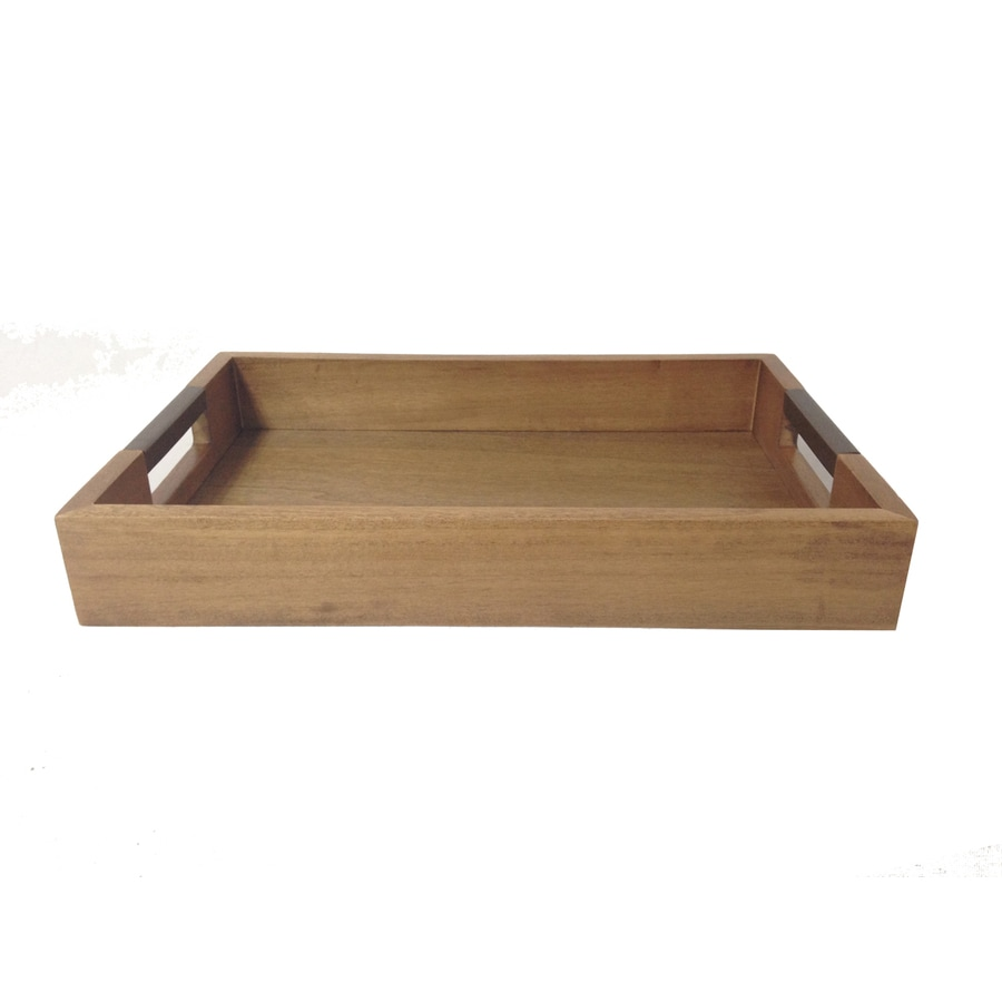 allen + roth Tray with Rose Gold Handle Design