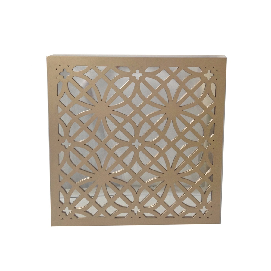 allen + roth Champagne Gold Square Framed Wall Mirror