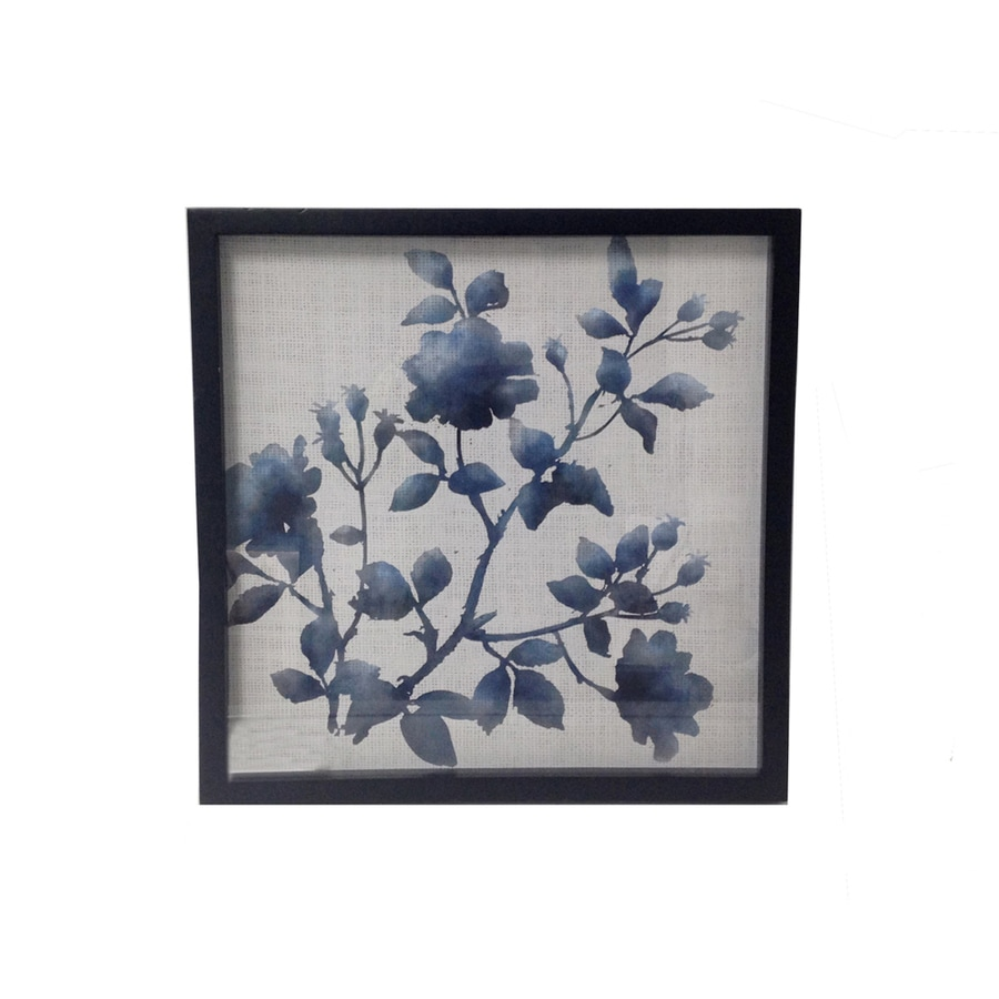 allen + roth 16-in W x 16-in H Framed Floral Wall Art