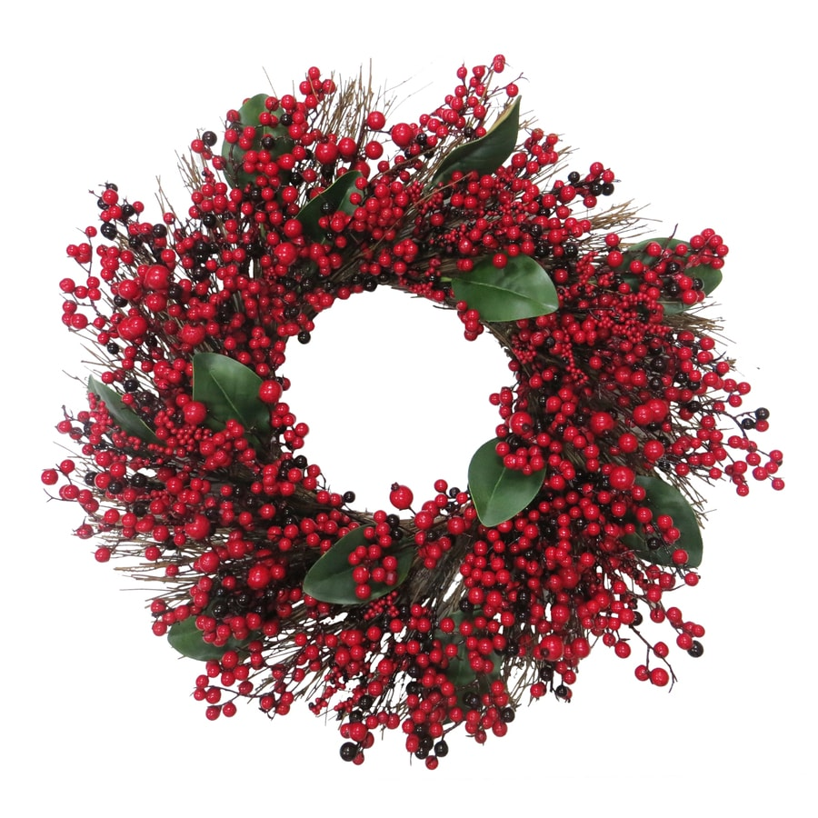 Holiday Living 30-in Indoor Red Berry Artificial Christmas Wreath