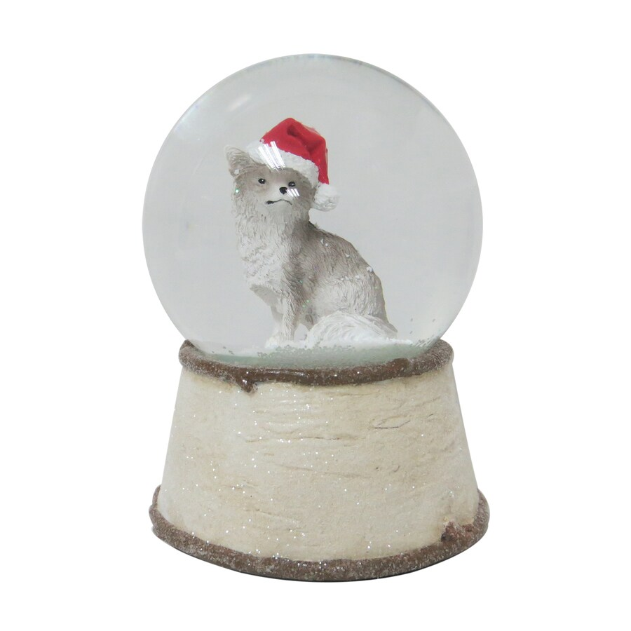 Holiday Living Musical Fox Snow Globe