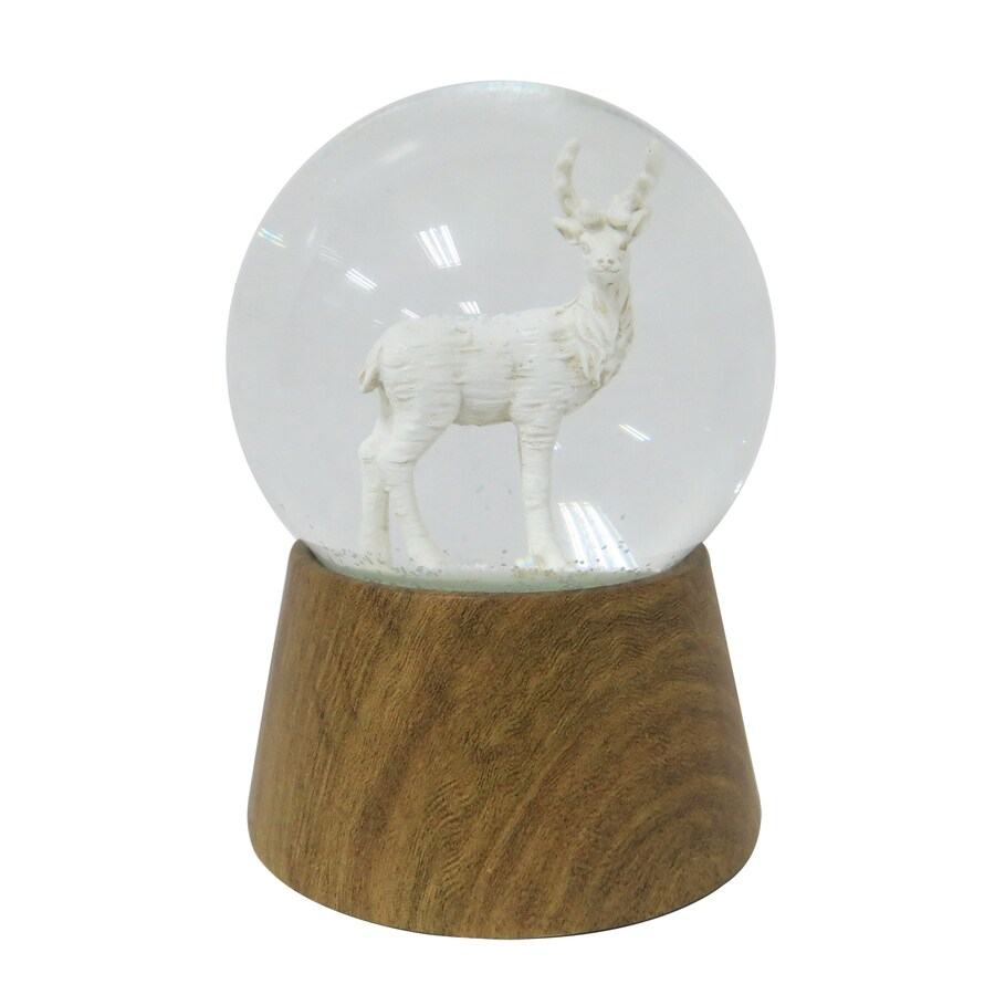 Holiday Living Musical Deer Snow Globe