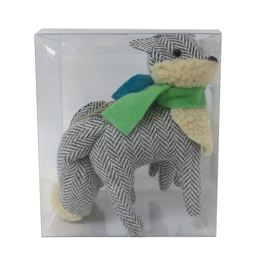 Holiday Living 2-Pack Gray, Green, Blue, Cream Fox Ornament Set