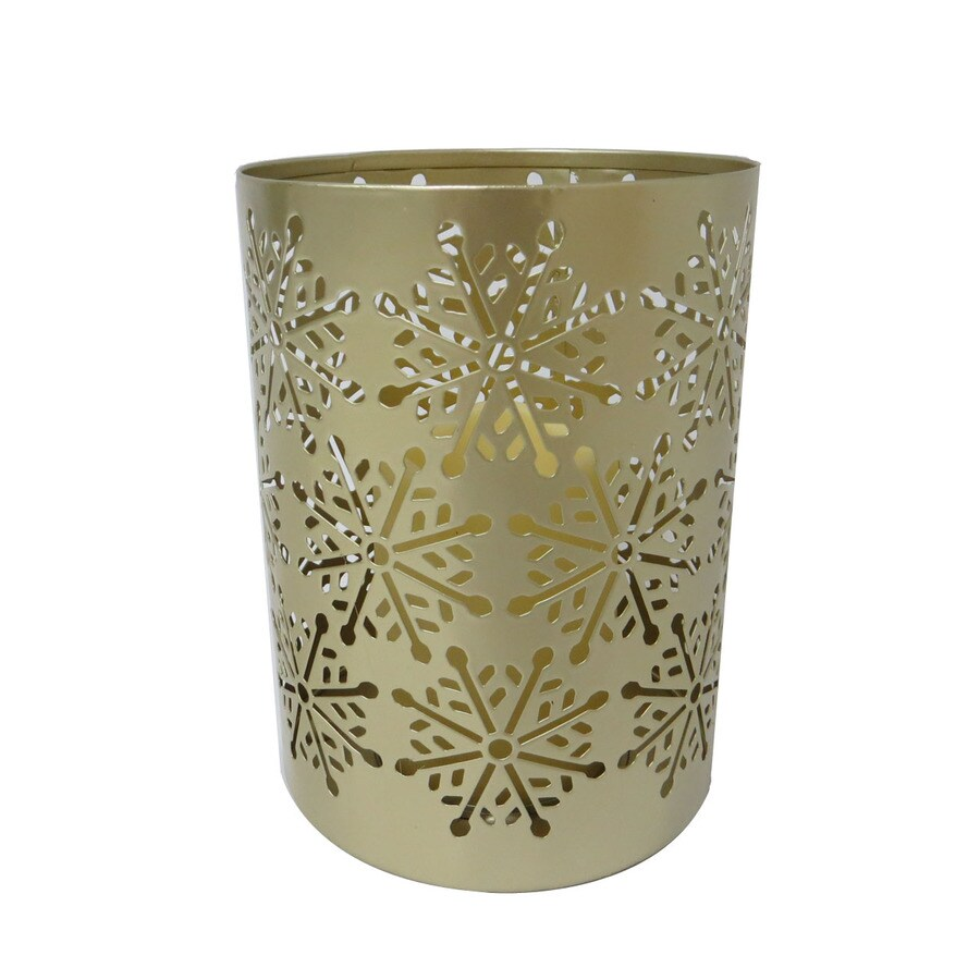 Holiday Living 7.125-in Battery-Operated LED Gold Electric Decorative Candle