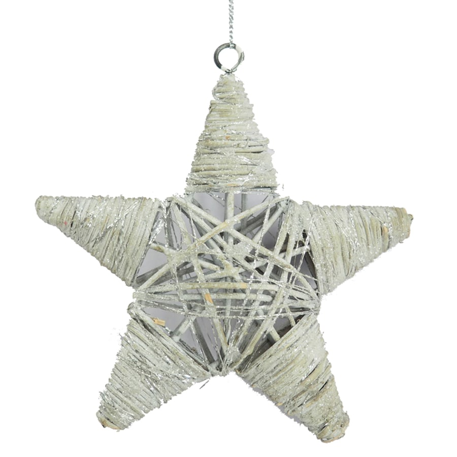 Holiday Living White Star Ornament