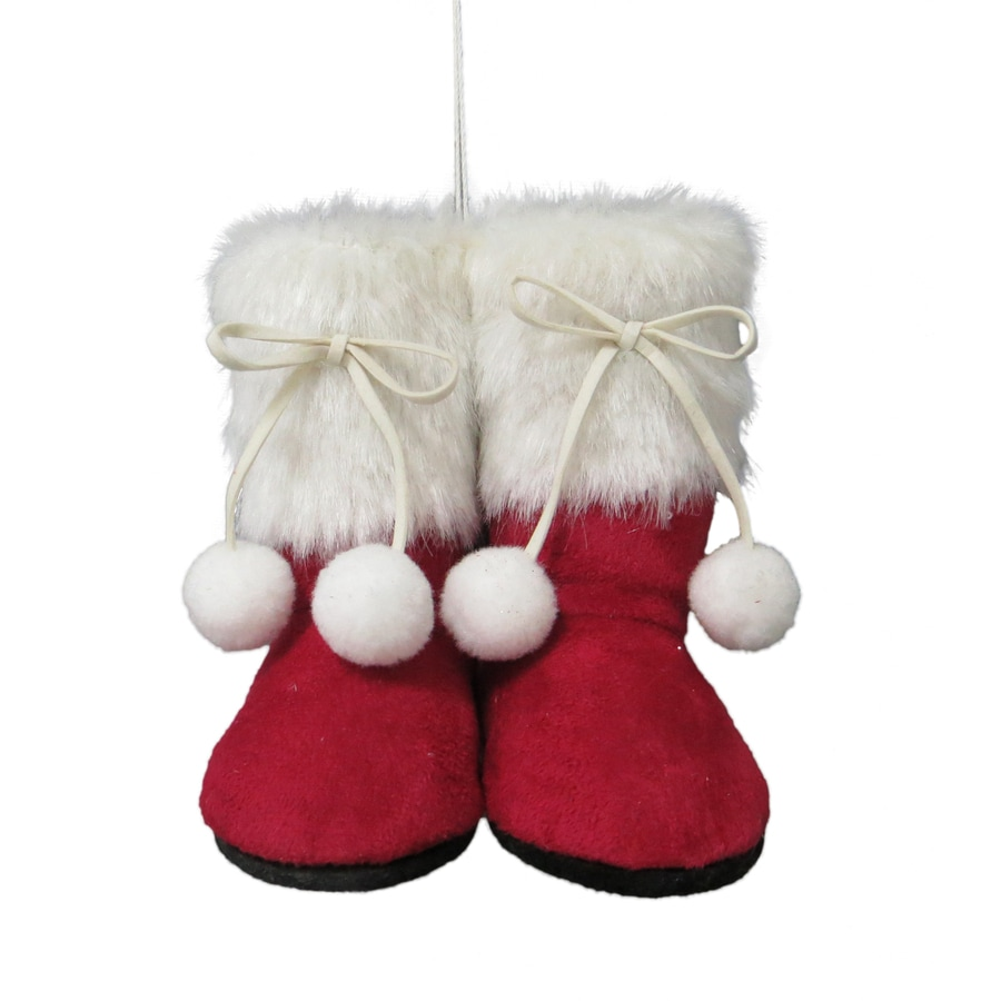 Holiday Living Red, White Boot Ornament