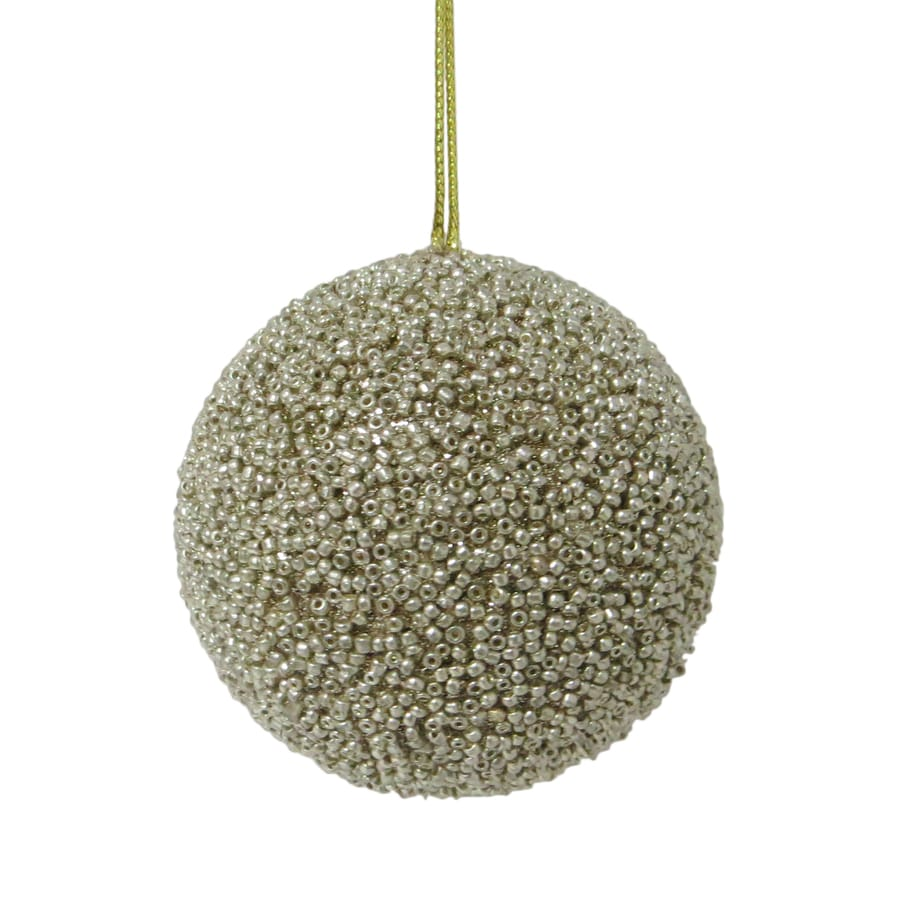 Holiday Living Champagne Beaded Ornament