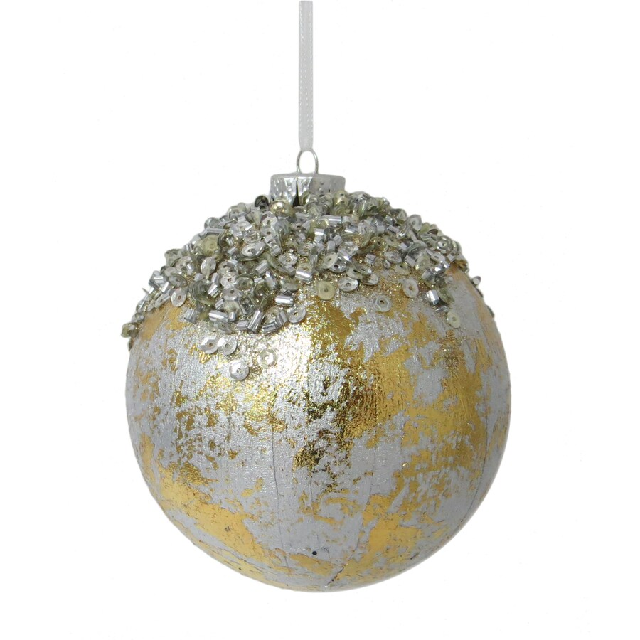 Holiday Living Champagne, Silver Ball Ornament