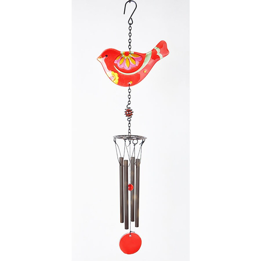 20-in Red Metal Wind Chime