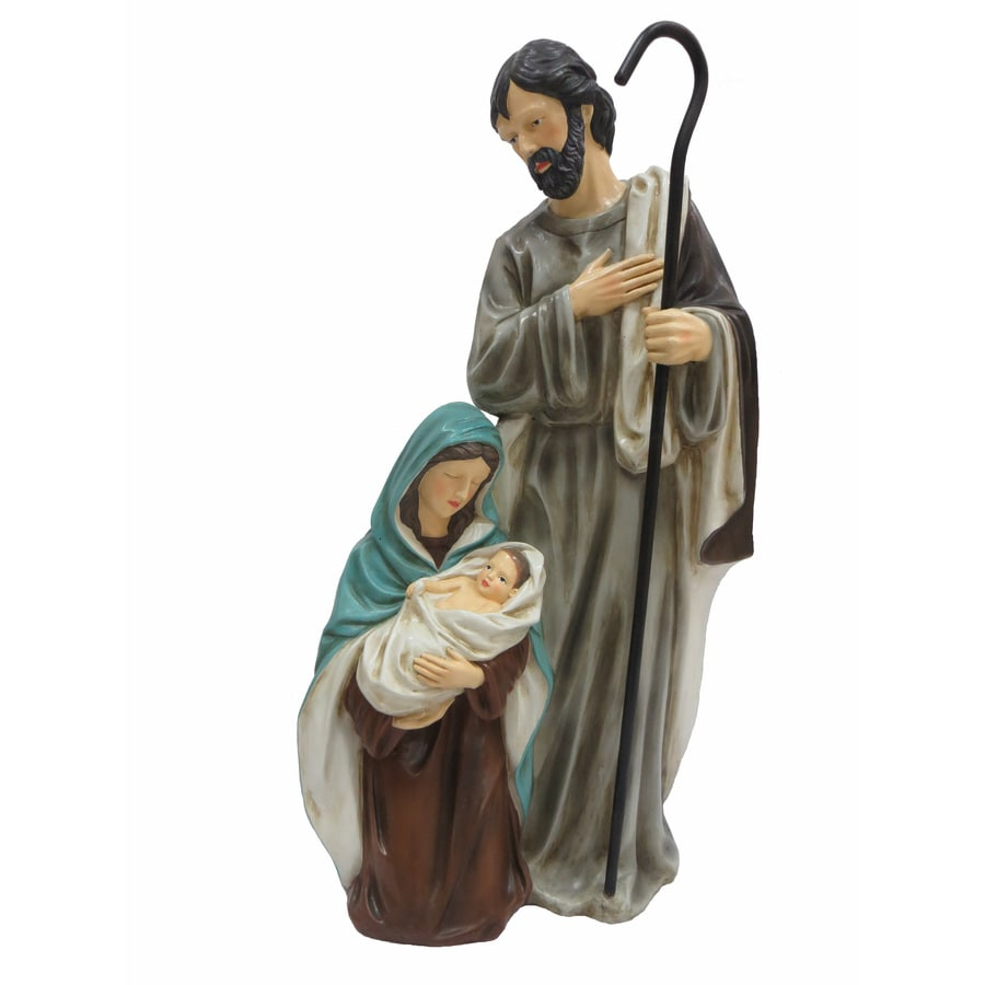 Shop Holiday Living 2.42-ft Freestanding Nativity Sculpture at Lowes.com