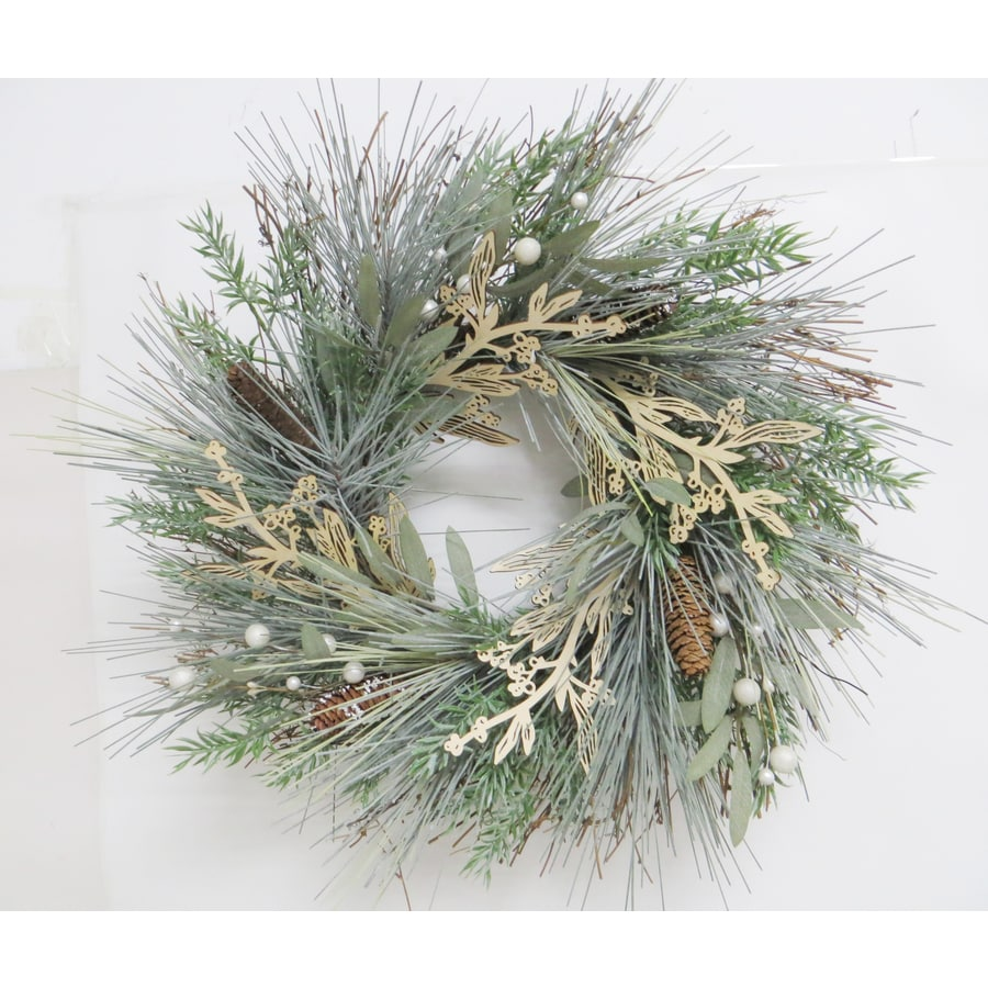 allen + roth 22-in Indoor Green Pine Artificial Christmas Wreath