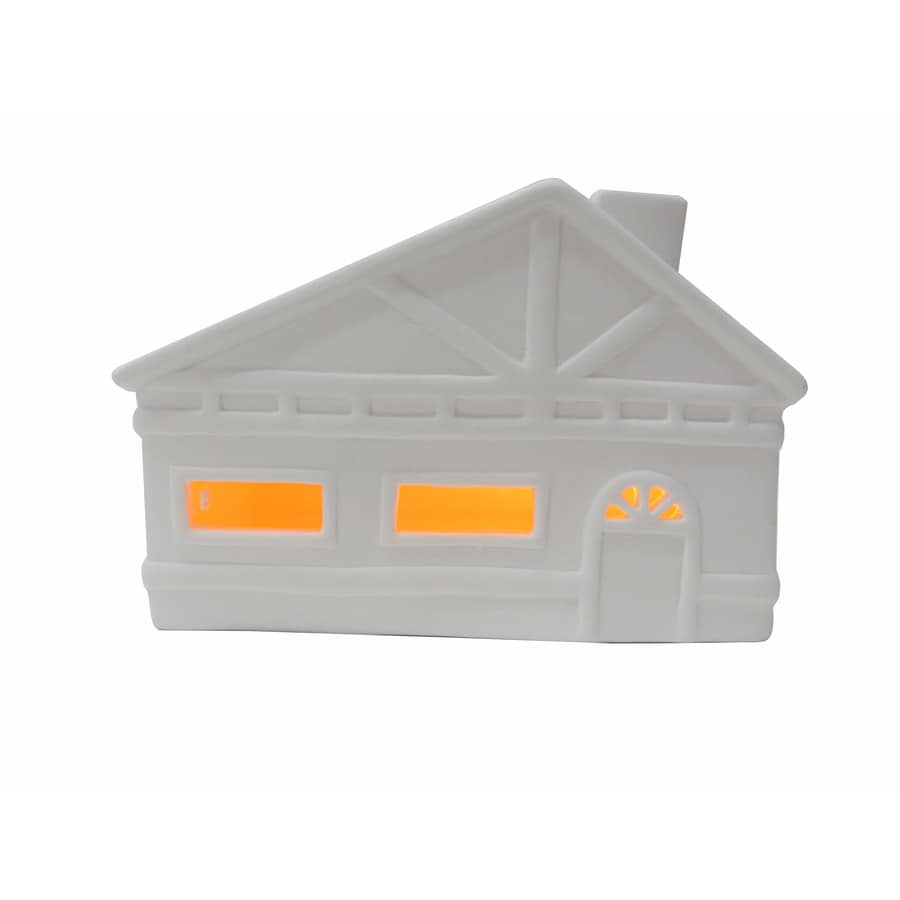 allen + roth Pre-Lit House House with Constant Yellow LED Lights