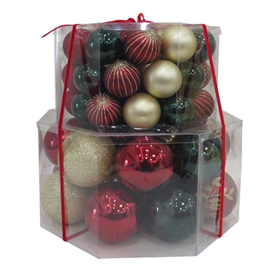 Holiday Living 66 Pack Red Green Gold Shiny Matte