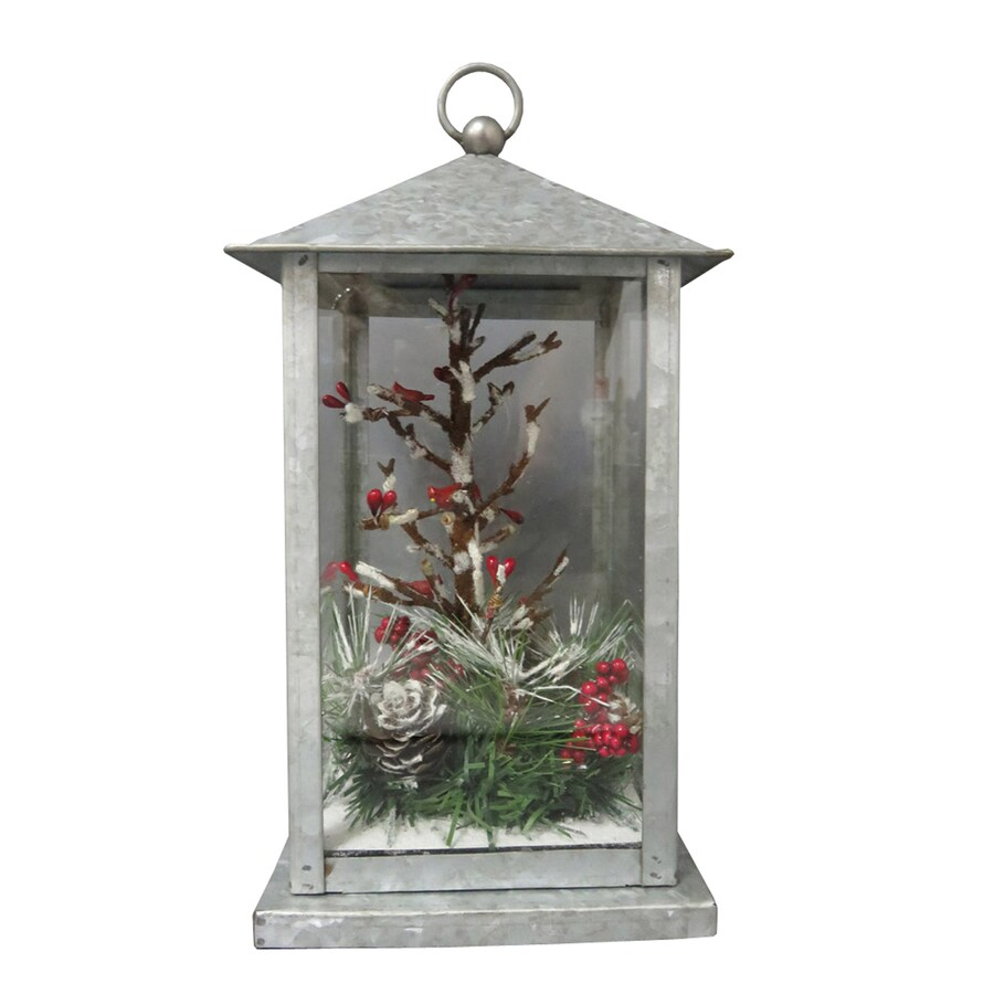 Holiday Living Pre-Lit Lantern Centerpiece with Constant White LED Lights