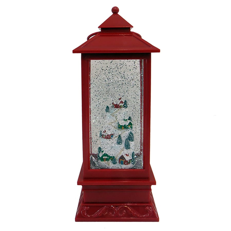 Holiday Living Pre-Lit Lantern Snow Globe with Constant Yellow LED Lights