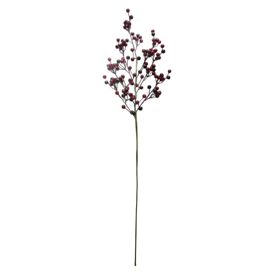 Holiday Living Red, Brown, Burgundy Berry Christmas Pick