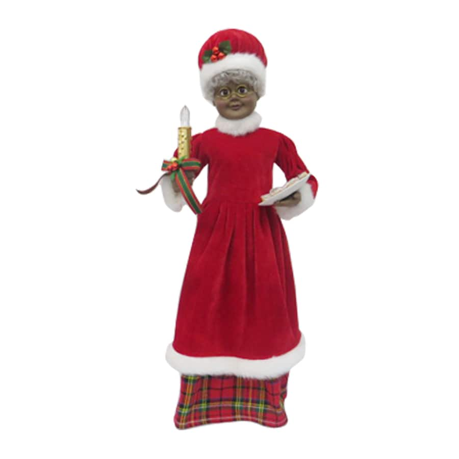 Holiday Living Animatronic Pre-Lit Musical Mrs. Claus Figurine with Constant Yellow LED Lights