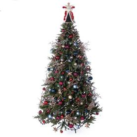 224 piece sophisticated full tree christmas tree decoration kit