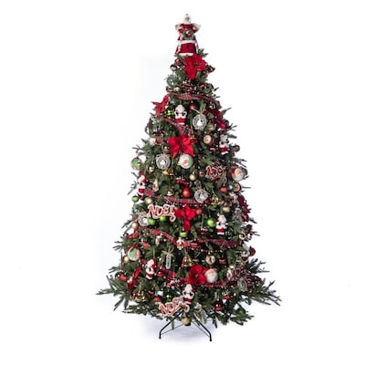 282 Piece Vintage Full Tree Christmas Tree Decoration Kit At