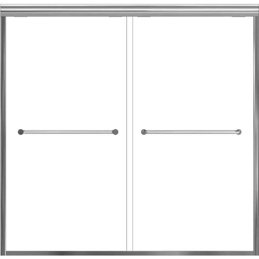 Basco 56-in to 60-in Frameless Shower Door