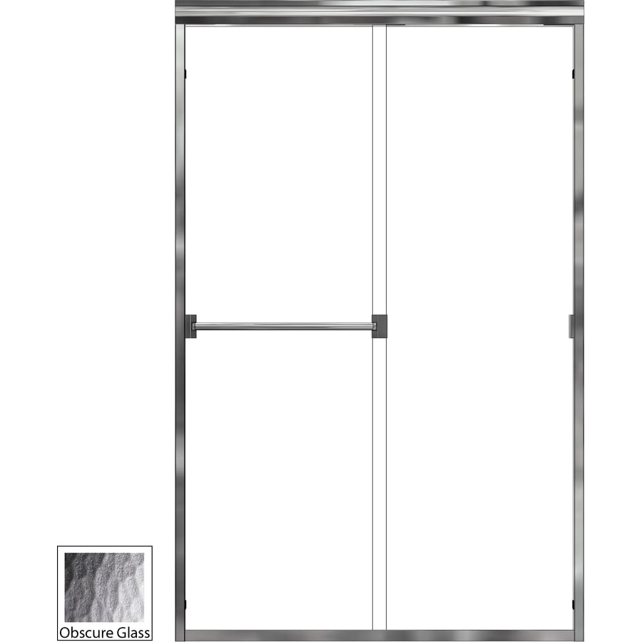 Basco Classic 56-in to 60-in W x 70-in H Frameless Sliding Shower Door