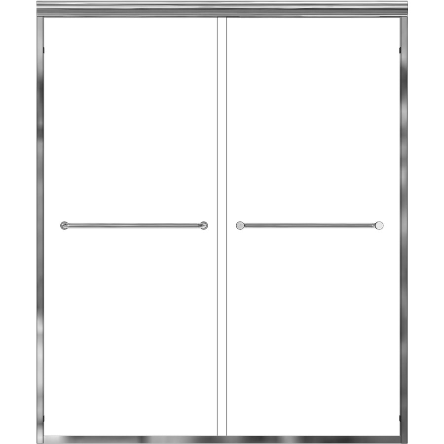 Basco Infinity 44-in to 47-in W x 70-in H Silver Sliding Shower Door