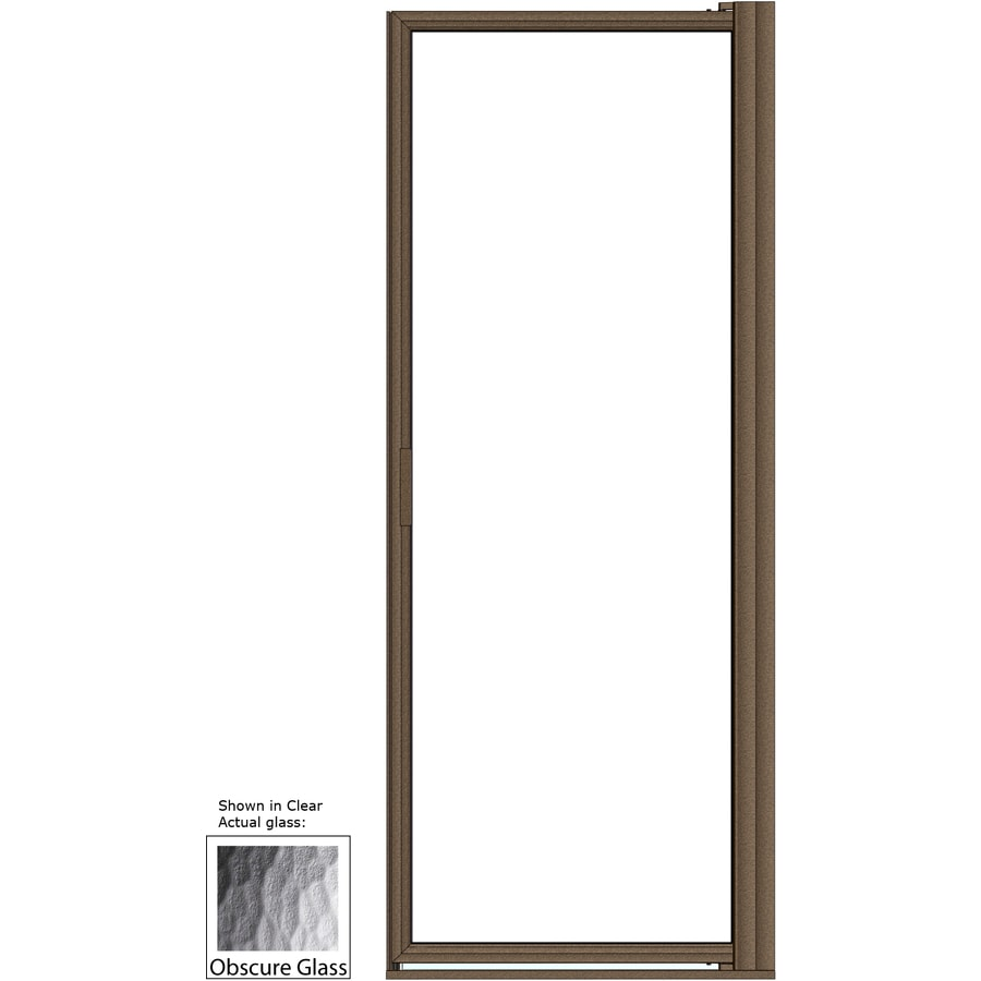 Basco 33.125-in to 34.875-in Framed Pivot Shower Door
