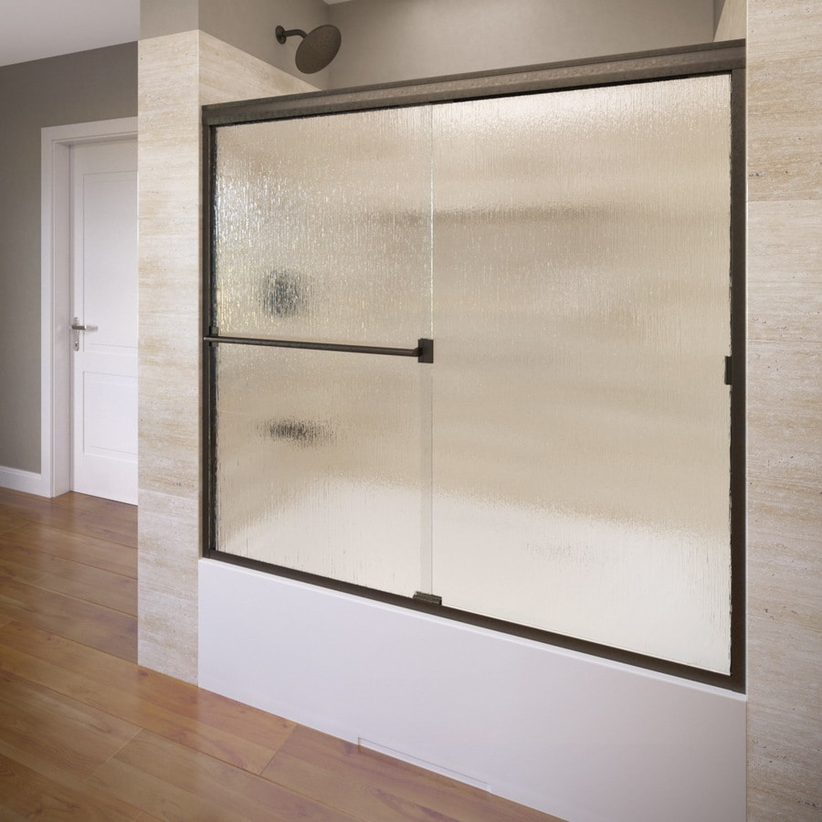 Basco Classic 60-in W x 57-in H Frameless Bathtub Door