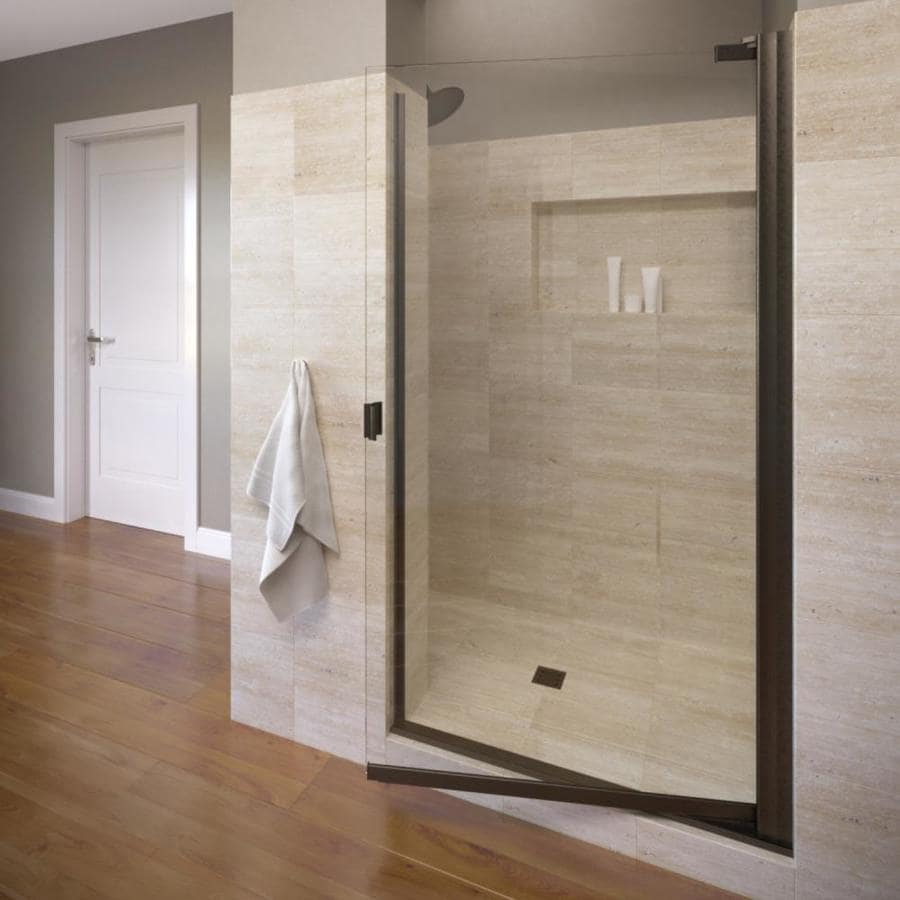 Basco 31.75-in to 33.25-in Frameless Pivot Shower Door