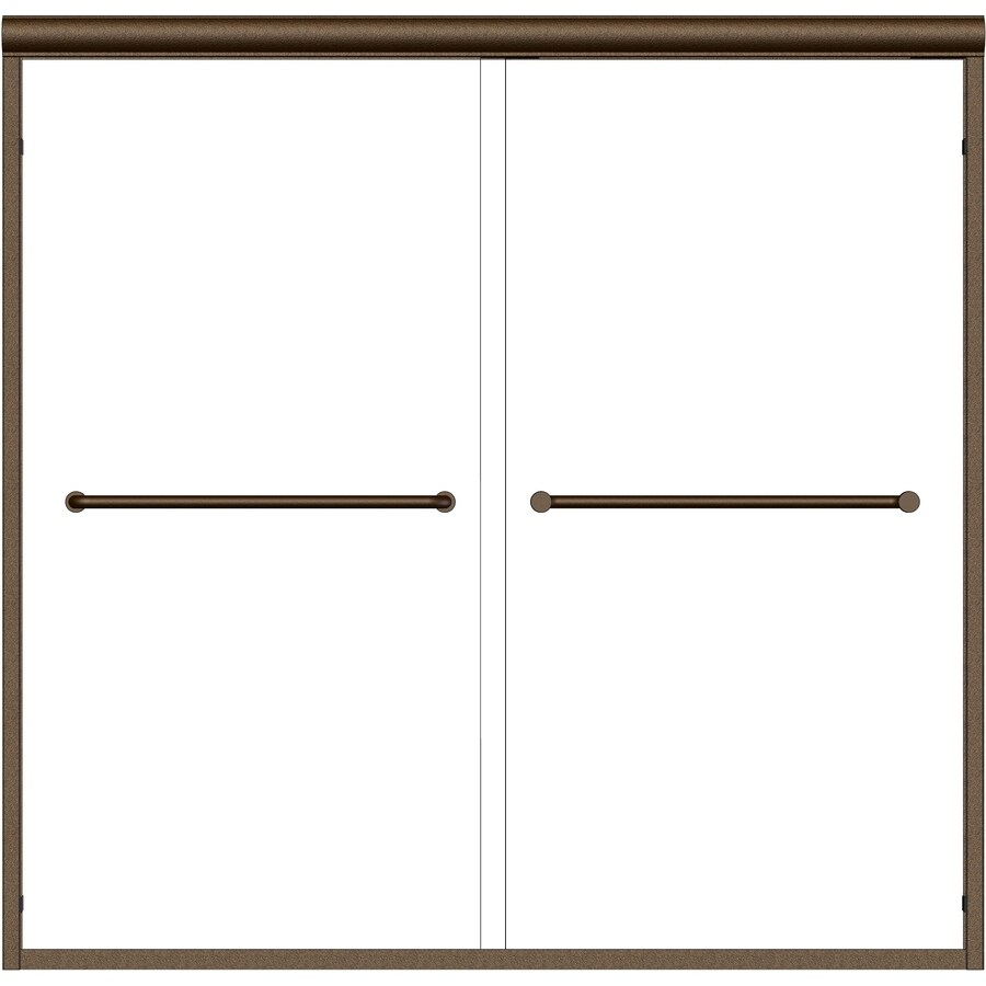 Basco Infinity 58.5-in W x 57-in H Frameless Bathtub Door