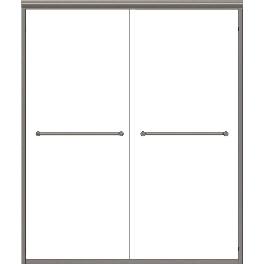 Basco Infinity 44-in to 47-in W x 70-in H Brushed Nickel Sliding Shower Door