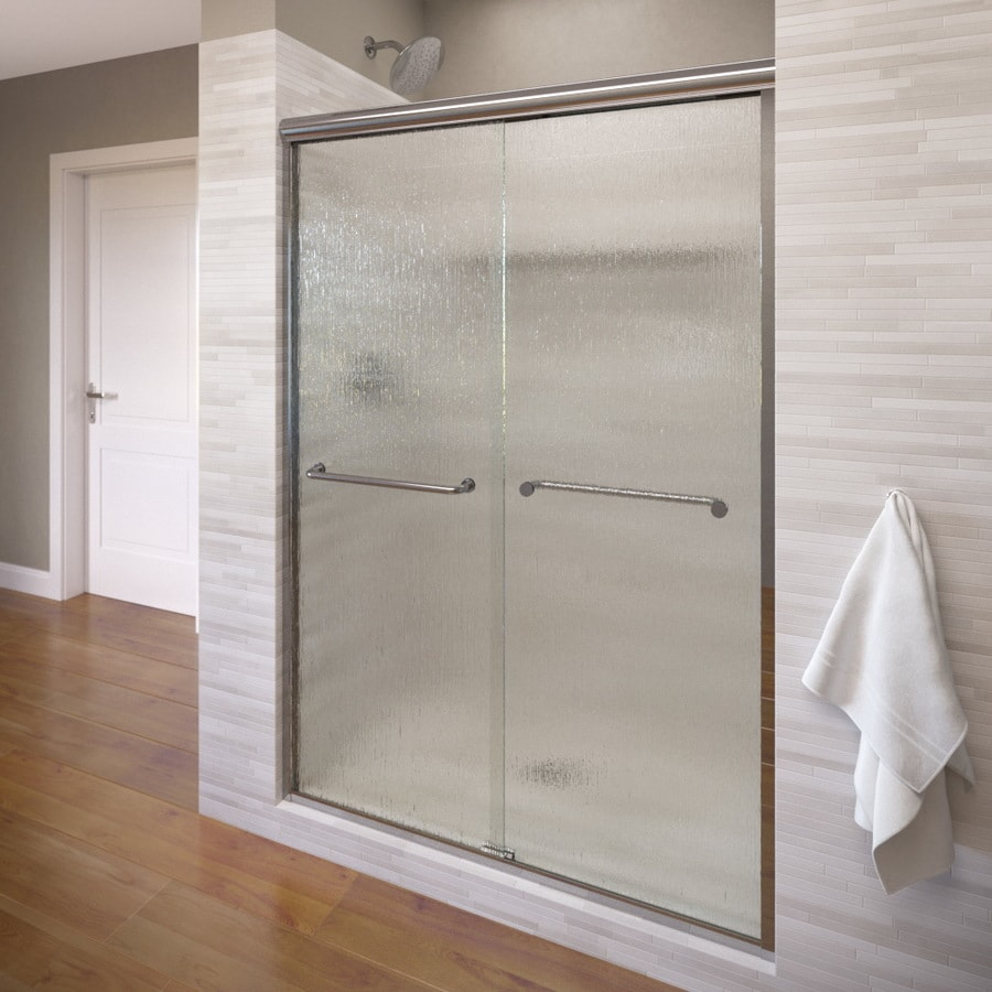 Basco Infinity 56-in to 58.5-in W x 70-in H Silver Sliding Shower Door