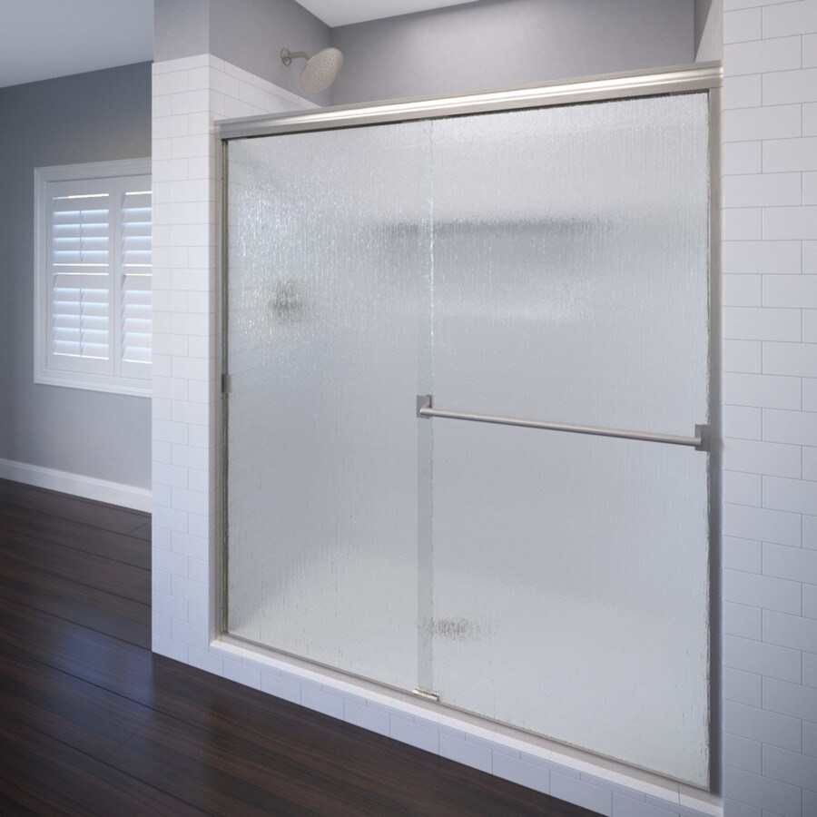 Shop Basco Classic 44 In To 47 In Frameless Shower Door At
