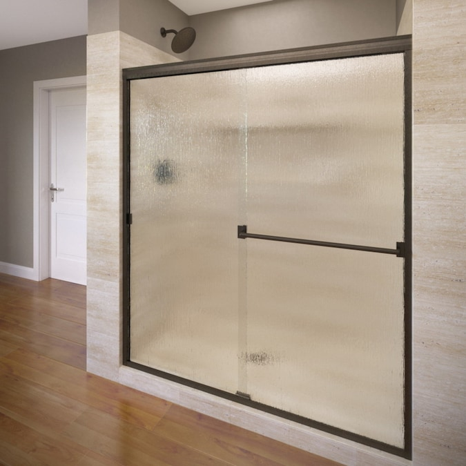 Oil Rubbed Bronze Shower Door Frosted