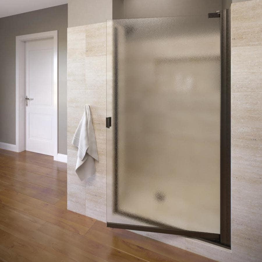 Basco Classic 26.625-in to 25.125-in Oil-Rubbed Bronze Frameless Pivot Shower Door