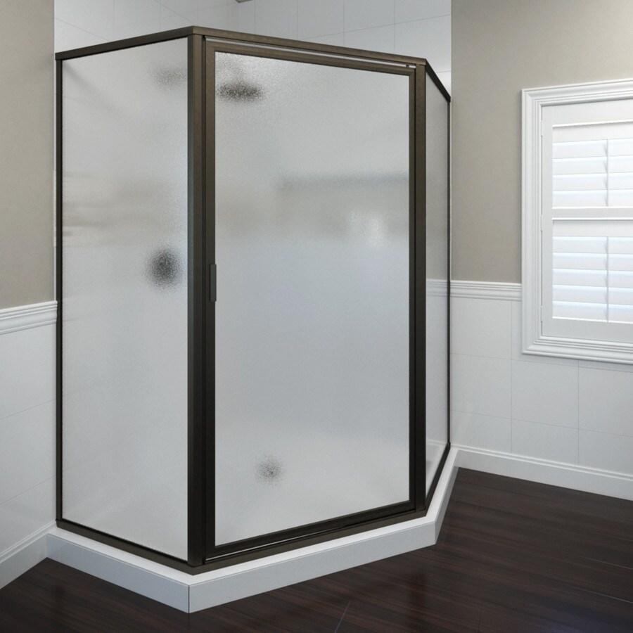 Basco Deluxe Thinline 49.5-in W x 68-5/8-in H Oil-Rubbed Bronze Neo-Angle Shower Door