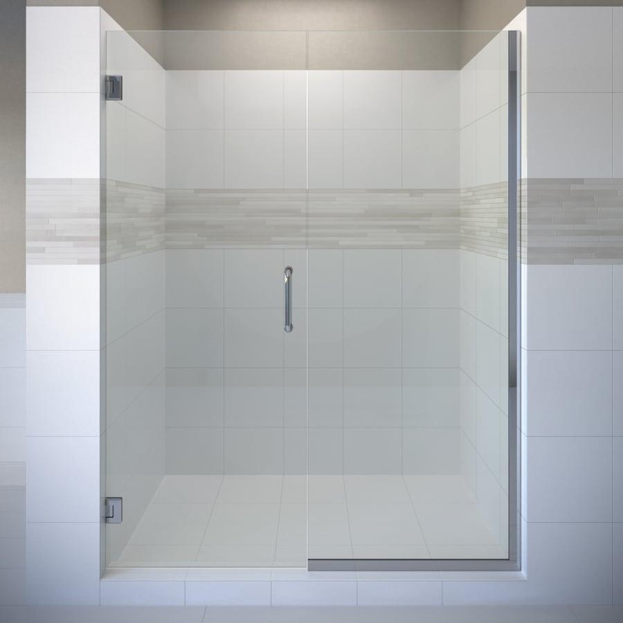 Shop Basco Celesta 57 In To 58 In Frameless Pivot Shower Door At