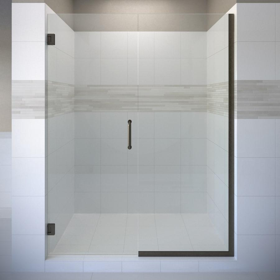 Basco Celesta 45-in to 46-in W Frameless Oil Rubbed Bronze Pivot Shower Door