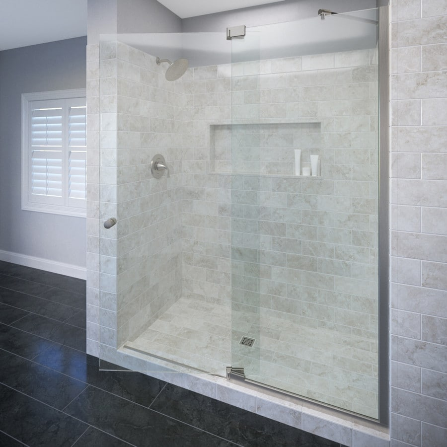 Basco Cantour 36.0125-in to 42-in Frameless Pivot Shower Door