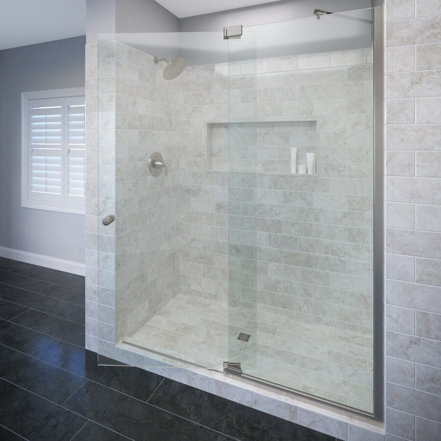 Basco Cantour 42.0125-in to 48-in Frameless Pivot Shower Door