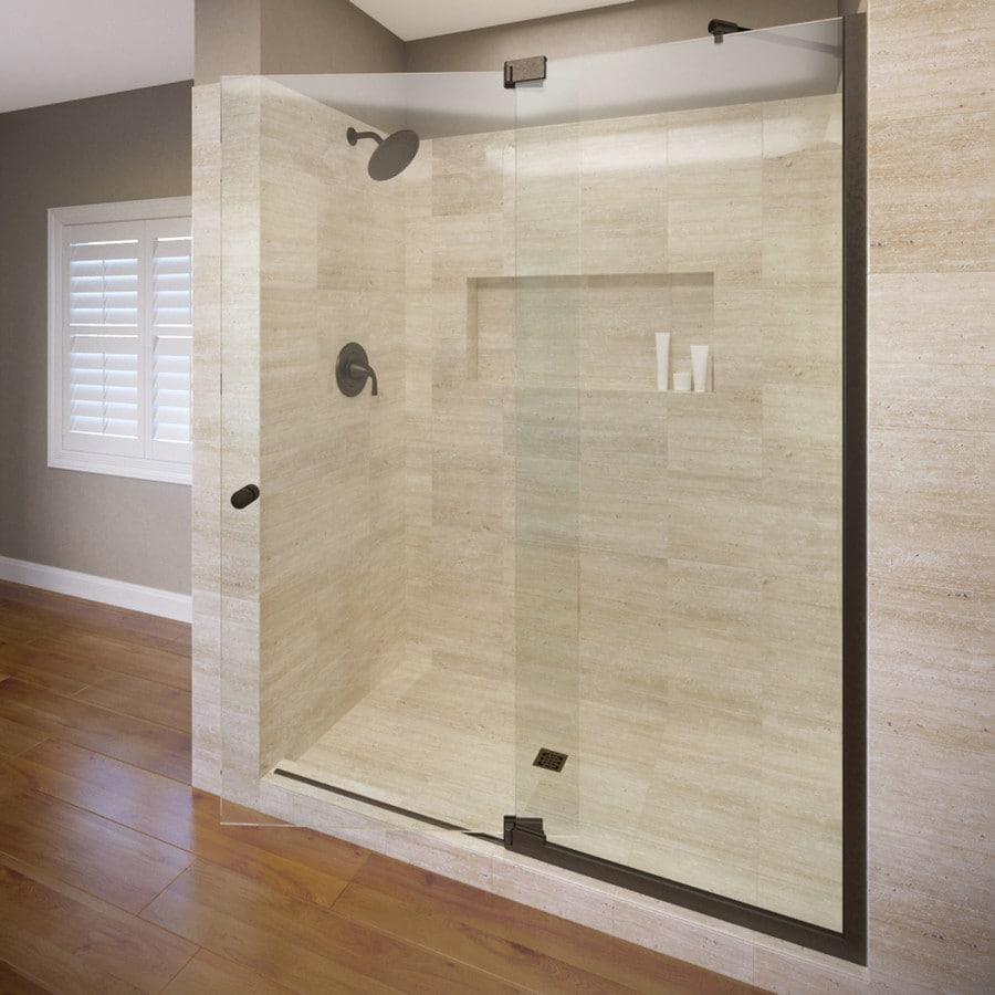 Basco Cantour 48.0125-in to 54-in Frameless Pivot Shower Door