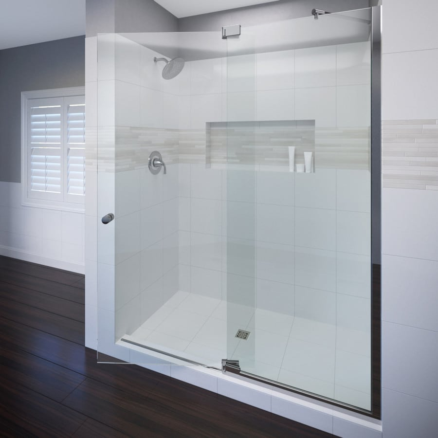 Basco Cantour 54.0215-in to 60-in Frameless Pivot Shower Door