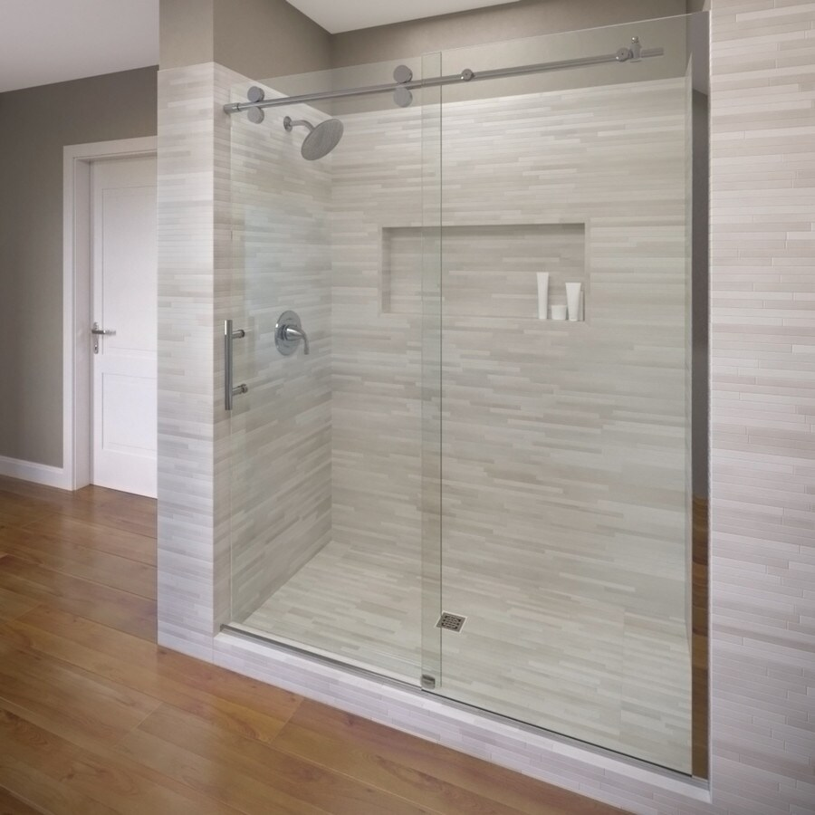 Basco RODA Vinesse Lux 57-in to 59-in W x 76-in H Chrome Sliding Shower Door