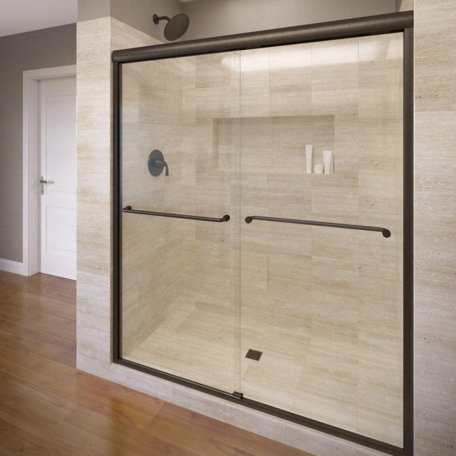Basco Celesta 56-in to 60-in Frameless Oil Rubbed Bronze Shower Door