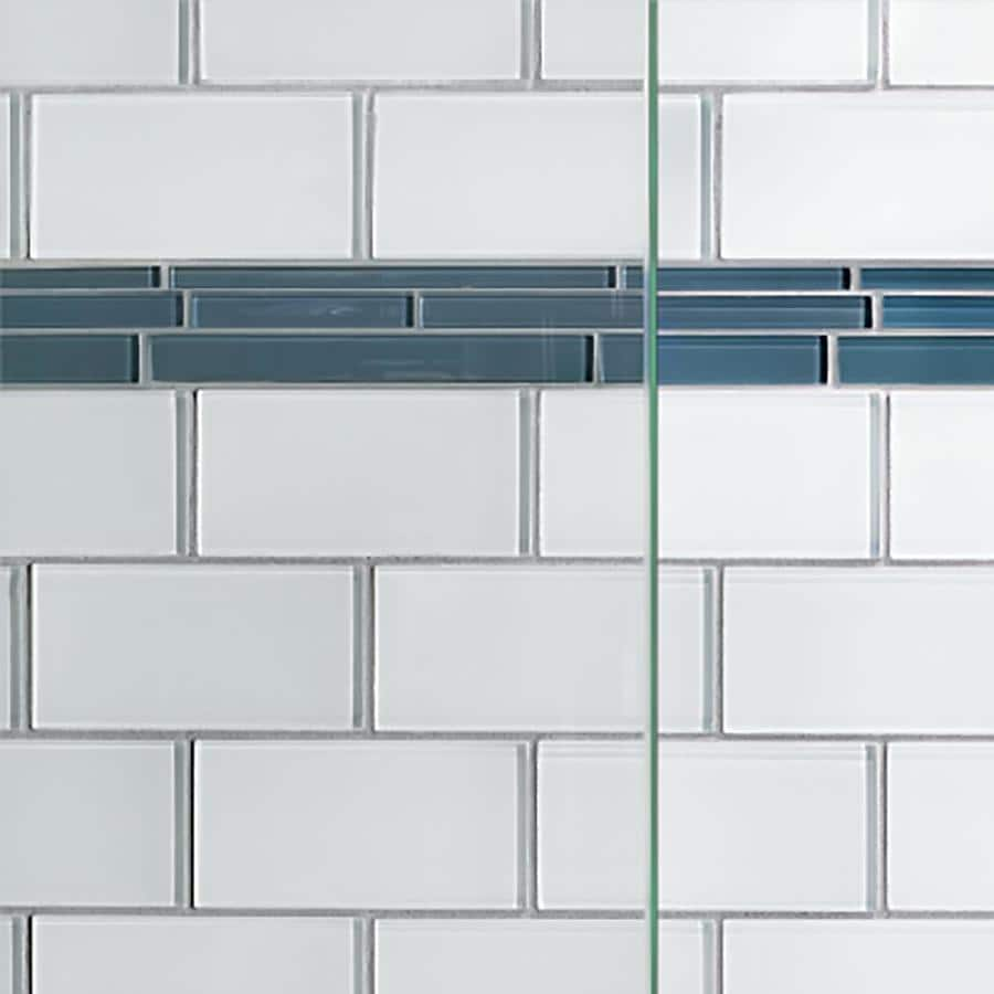 Basco Infinity 57 In H X 54 5 In To 58 5 In W Semi Frameless Sliding Brushed Nickel Bathtub Door Clear Glass In The Shower Doors Department At Lowes Com