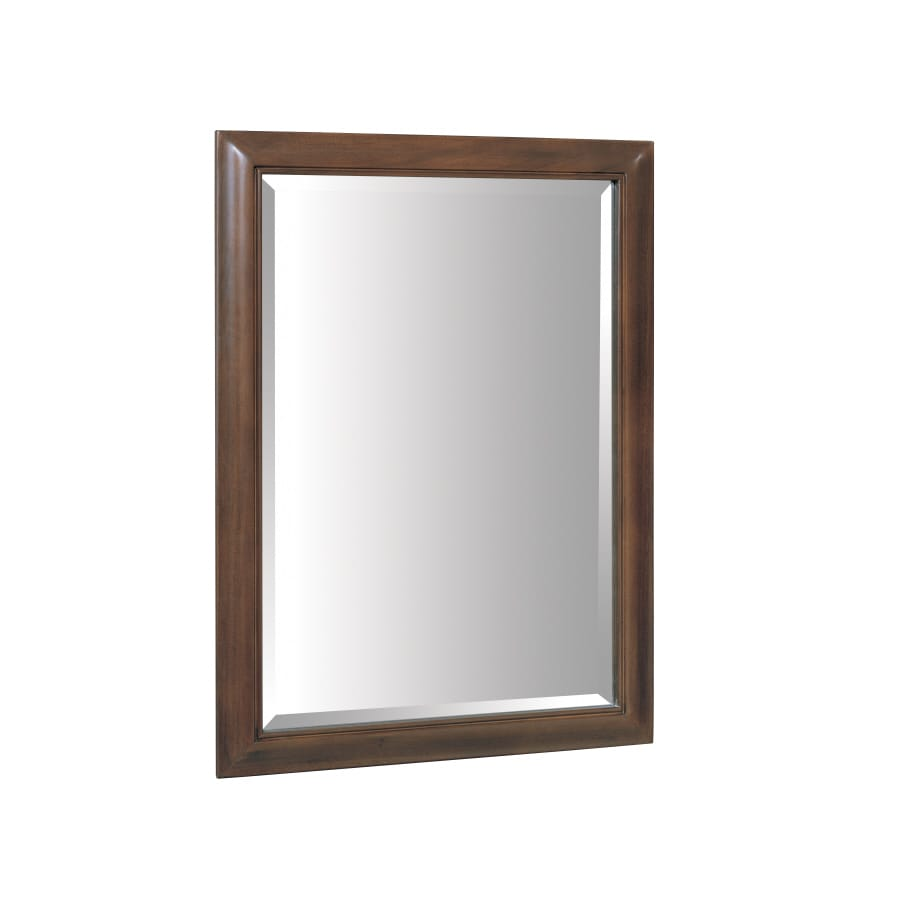 allen + roth Fenella 24-in W x 33-in H Sable Rectangular Bathroom Mirror