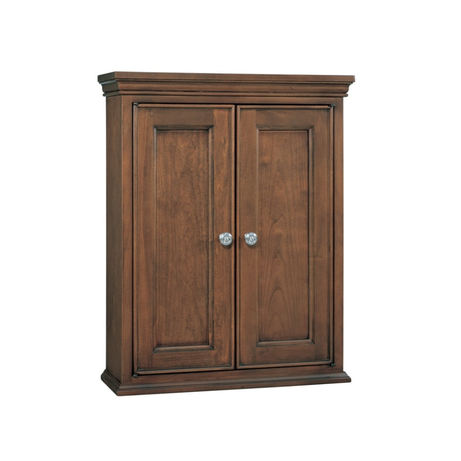 allen + roth Fenella 24-in W x 30-in H x 8-in D Sable Poplar Bathroom Wall Cabinet