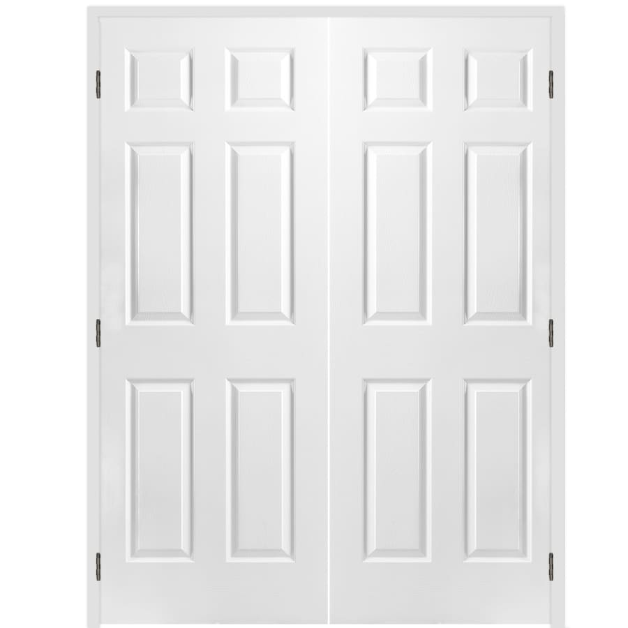 Shop Reliabilt Colonist Primed Hollow Core Molded Composite Double Prehung Interior Door Common