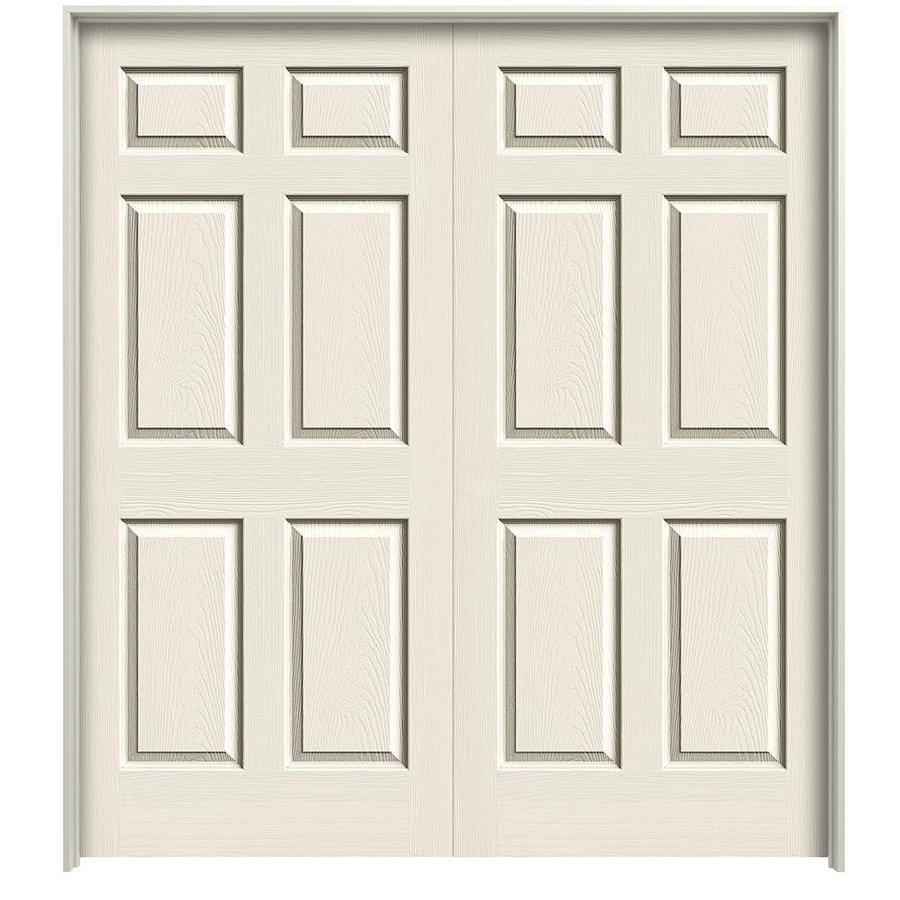 ReliaBilt Prehung Hollow Core 6-Panel Interior Door (Common: 48-in x 80-in; Actual: 49.5-in x 81.5-in)