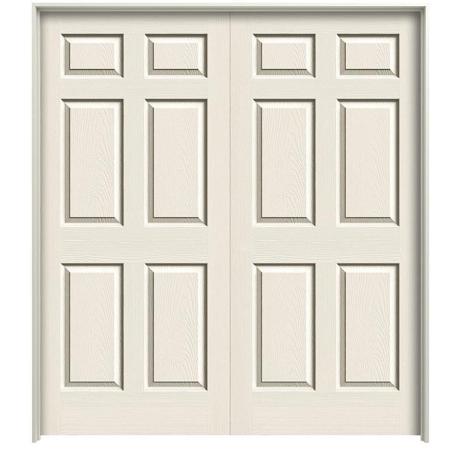 ReliaBilt 6-panel Single Prehung Interior Door (Common: 48-in X 80-in; Actual: 49.5000-in x 81.5000-in)